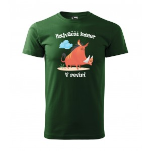 Pánske poľovnícke tričko pre najväčšieho kanca v revíri