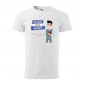 Pánske tričko s krátkym rukávom pre najlepšieho učiteľa