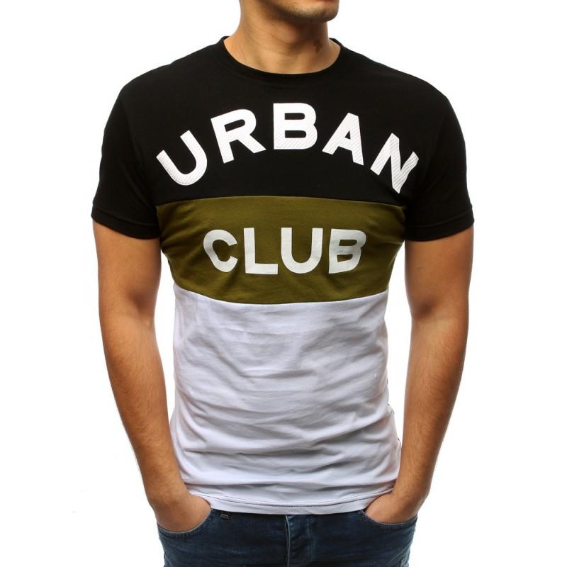 7c9a0531e Pánske mestské tričko v troj kolore s krátkym rukávom