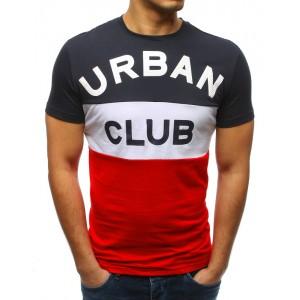 Moderné tmavo modré pánske tričko s veľkým nápisom