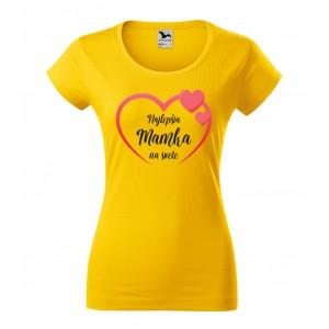 Dámske tričko s vlastnou potlačou pre mamičku