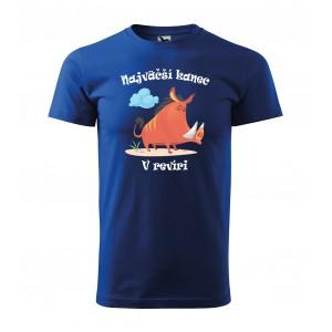 Vtipné pánske tričko najväčší kanec v revíri