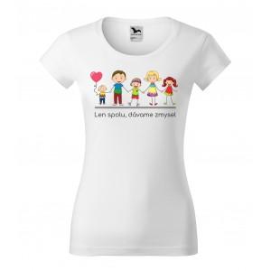 Dámske rodinné tričko s krátkym rukávom