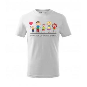 Detské tričko s originálnym rodinným motívom