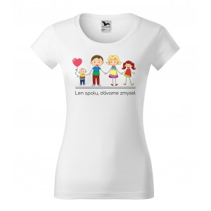 Originálne dámske tričko s motívom rodiny
