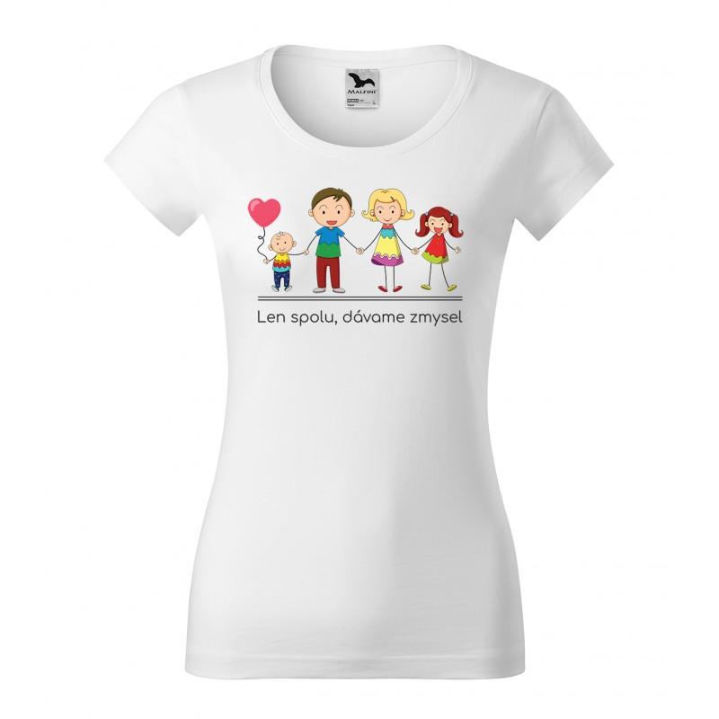 f00ce2195 Originálne dámske tričko s motívom rodiny