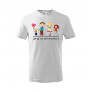 Detské rodinné tričko s potlačou