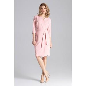 0114f7868fa2 Štýlové dámske šaty ružové s V výstrihom ...