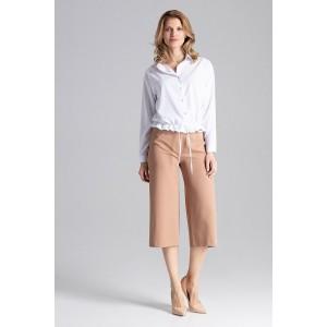 Štýlová dámska biela blúzka košeľového strihu módneho designu