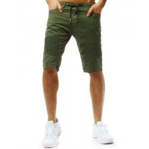 Moderné pánske kraťasy v zelenej farbe módneho dizajnu