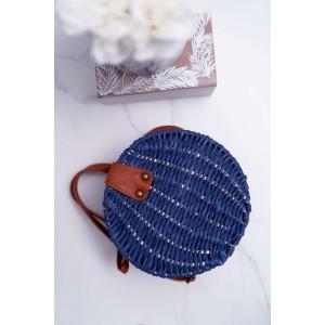 Kvalitná dámska pletená kabelka v modrej farbe
