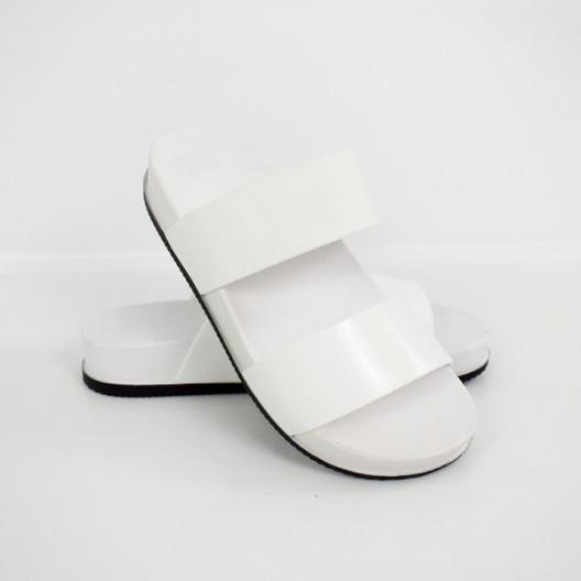 Originálne dámske biele gumené šľapky na pláž