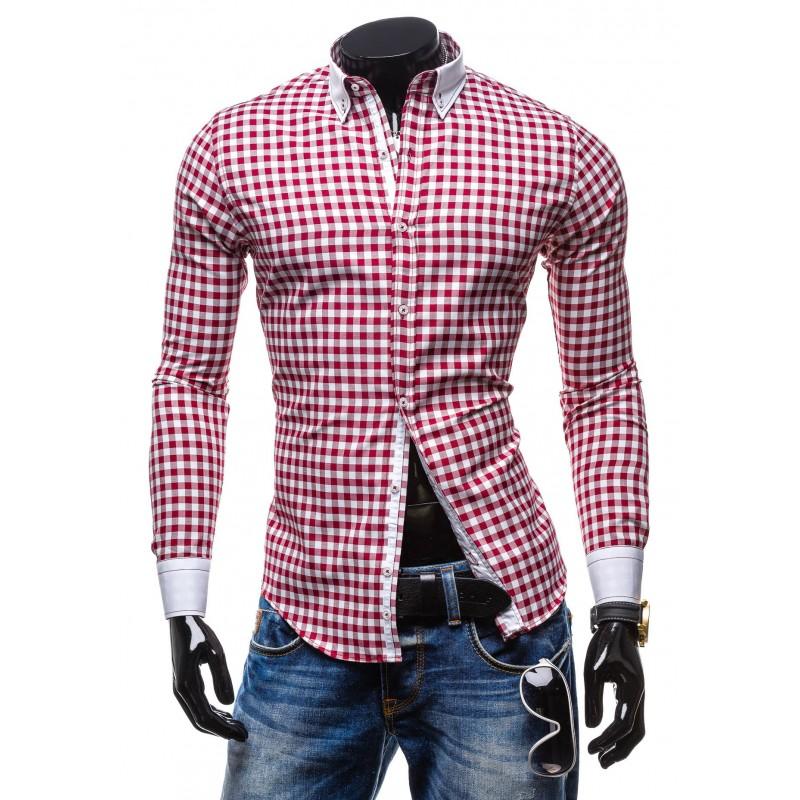 c7987ba0ac1d Najlacnejšie pánske košele kárované červenej farby - fashionday.eu