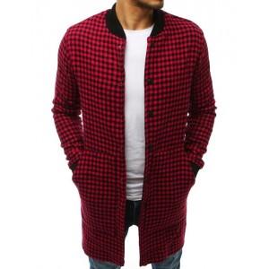 Pánska predlžená prechodná bunda v červenej farbe