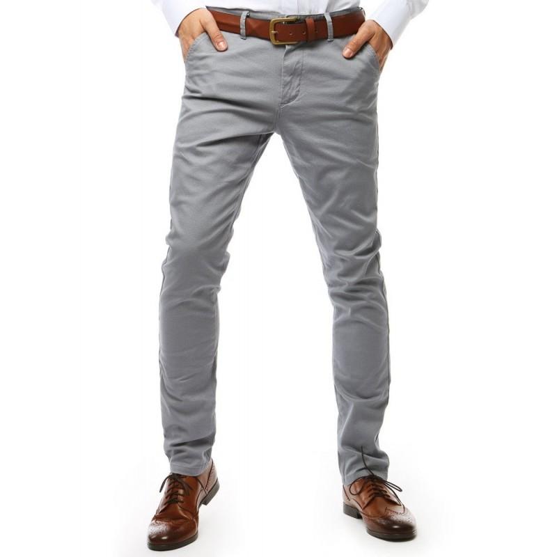 480476770aa9 Elegantné pánske svetlo sivé nohavice mierne zúženého strihu