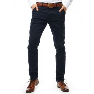 Štýlové pánske tmavo modré nohavice s vreckami v prednej i zadnej časti