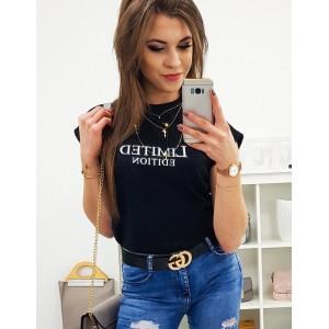 Dámske tričko čierne s originálnym nápisom LIMITED EDITION