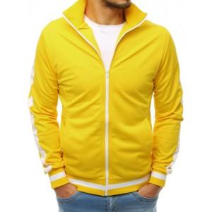 Pánska mikina na zips v žltej farbe