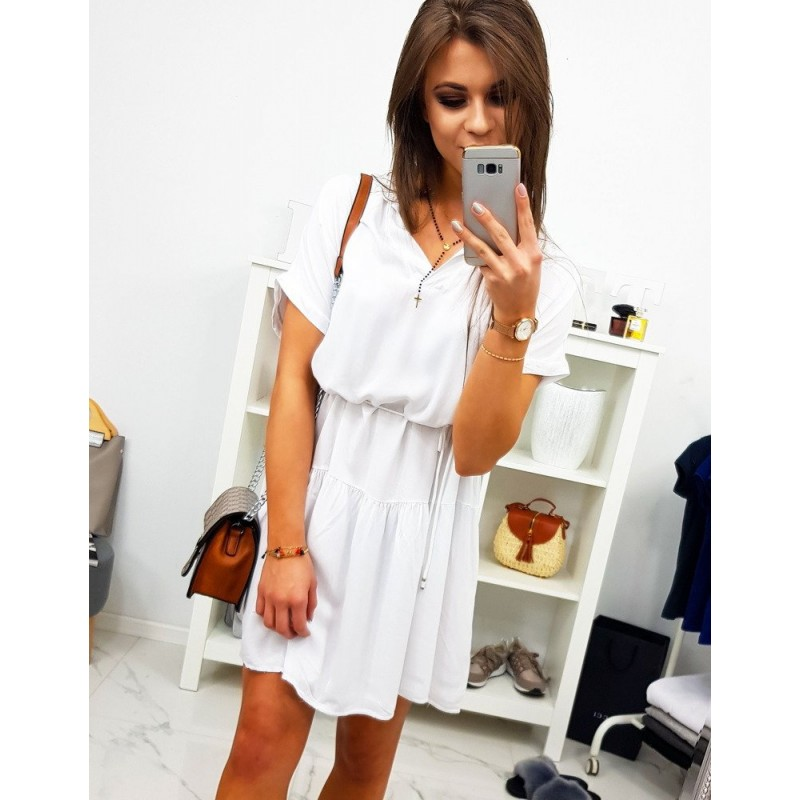 1681ea1cb6bc Biele dámske krátke šaty na leto