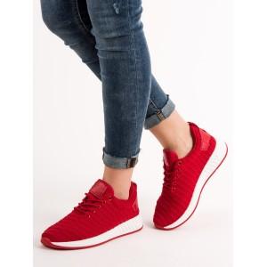 Štýlové dámske tenisky v červenej farbe