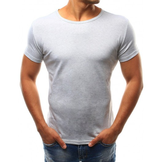 Štýlové svetlo sivé jednofarebné pánske tričko