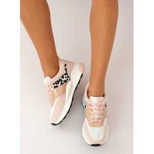 Dámska letná športová obuv v ružovej farbe