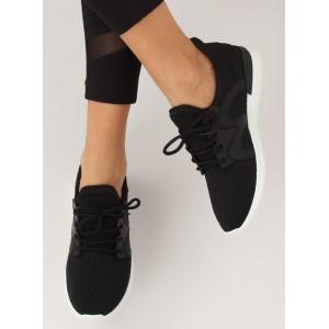 Pohodlná dámska športová obuv čiernej farby