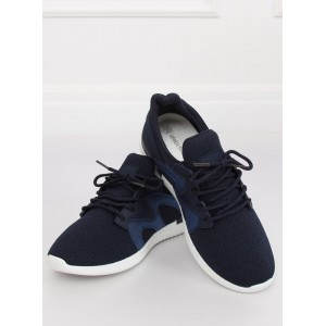 Tmavo modré dámske športové tenisky s bielou podrážkou