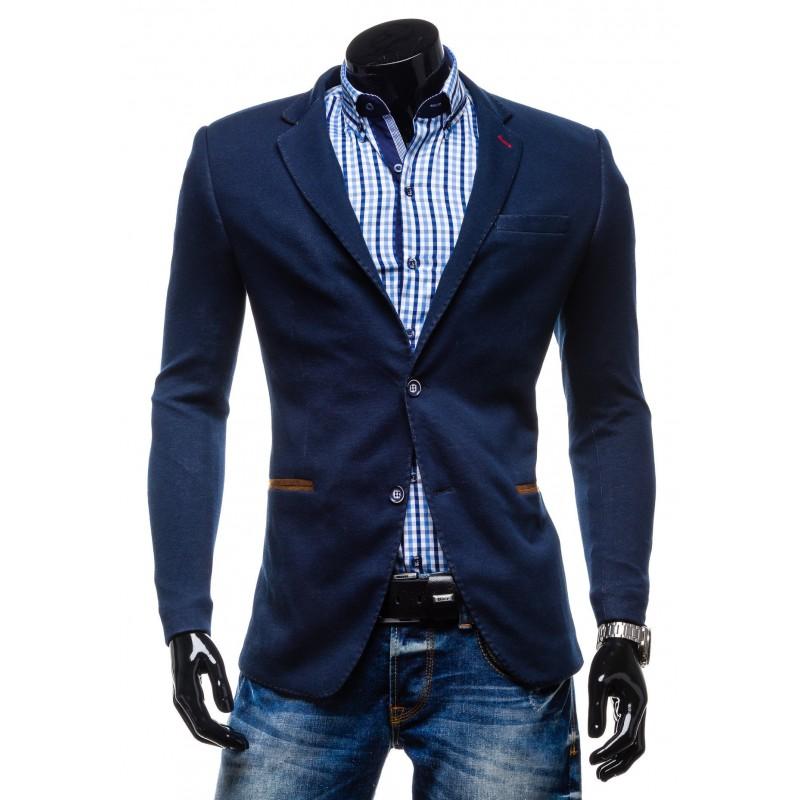 b9cd370a2786 Moderné pánske saká pre chlapov modrej farby - fashionday.eu