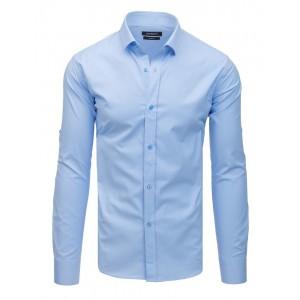 Štýlová pánska svetlo modrá jednofarebná košela