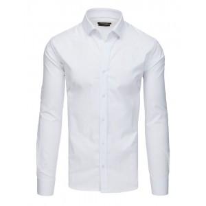 Spoločenská jednofarebná biela slim fit košeľa
