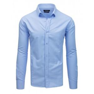 Spoločenská pánska košeľa svetlo modrej farby so zapínaním na gombíky