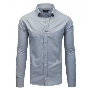 Pánska svetlo sivá slim fit pánska košeľa so zapínaním na gombíky