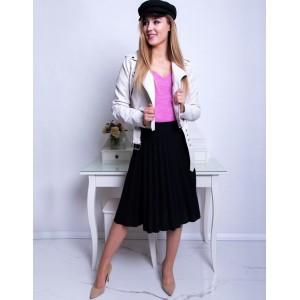 Spoločenská dámska čierna midi plisované sukňa