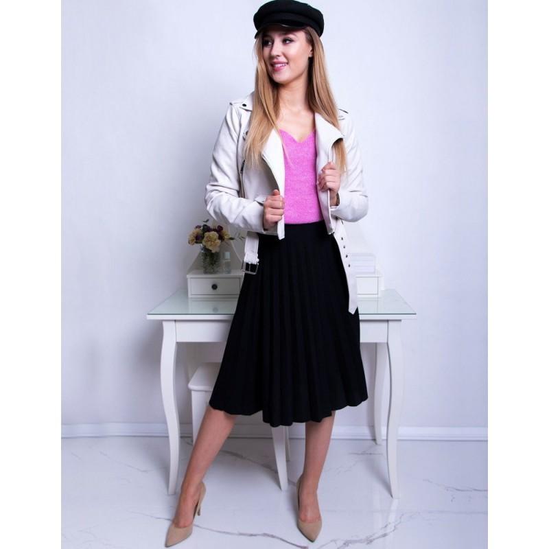 59505da63cd2 Spoločenská dámska čierna midi plisované sukňa