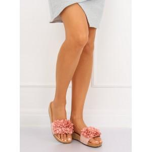 Pohodlné dámske šľapky ružové