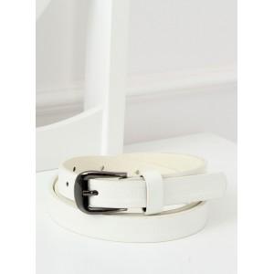 Elegantný dámsky biely opasok s jemnou potlačou