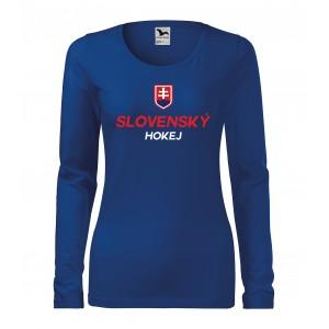 Dámske dlhé tričko so slovenskou potlačou