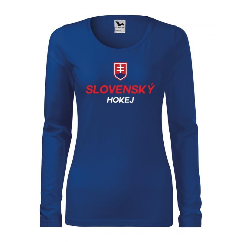 93748efeb92b Dámske dlhé tričko so slovenskou potlačou