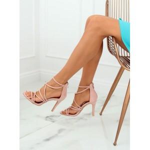 Exkluzívne dámske semišové sandále ružovej farby