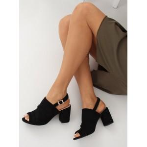 Letné dámske sandále na vysokom hrubom opätku