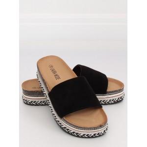 Letné dámske papuče na vysokej zdobenej podrážke