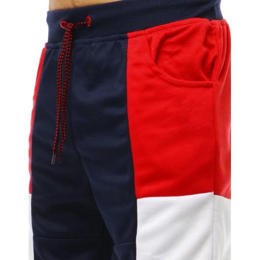 Trendy pánske kraťasy s bočnými vreckami a v kombinácii troch farieb