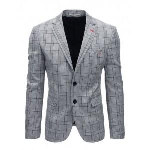 Neformálne pánske sako s čierny károvaným vzorom