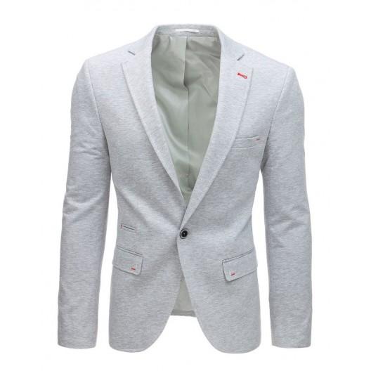 Pánske sako v sivej farbe