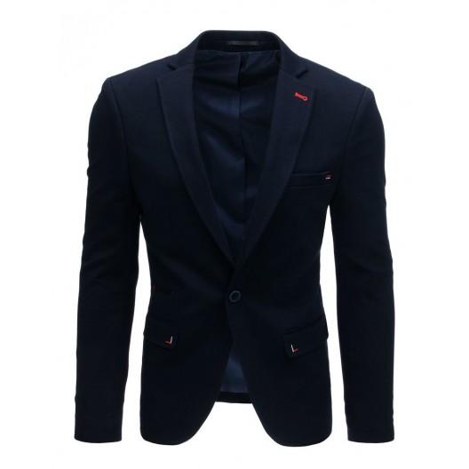 Moderné pánske sako v tmavo modrej farbe