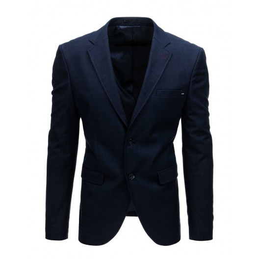 Elegantné tmavomodré pánske sako