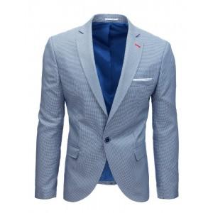 Svetlo modré pánske vzorované sako