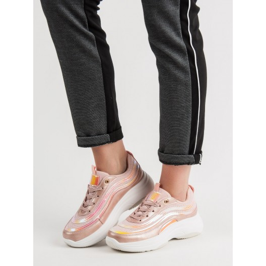 Elegantné dámske ružové topánky