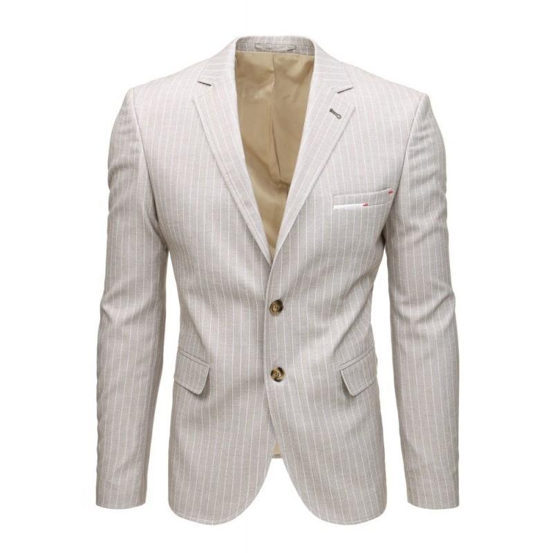 b593bbc35c8a Krásne letné pánske sako v béžovej farbe slim fit strihu